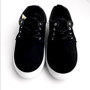 Men's Black Lace Up Sneakers Size 8